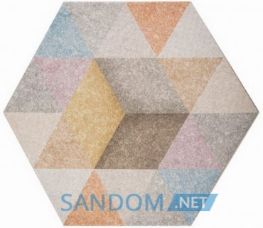 Плитка Atem Hexagon R Rainbow Mix 40х34,6