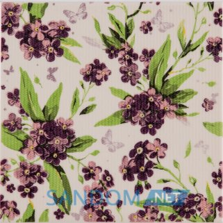 Декор Атем Orly Galliano Forget-me-not B 20x20