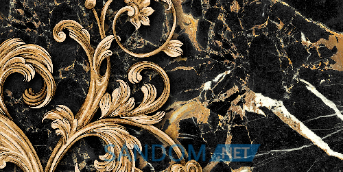 Декор для стен Golden Tile Saint Laurent Decor 3 Black 30х60
