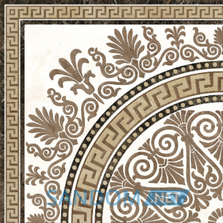 Плитка для пола Golden Tile Meander Rosette 40х40